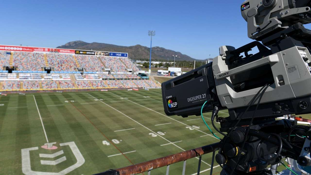 Empty Stadium TV camera