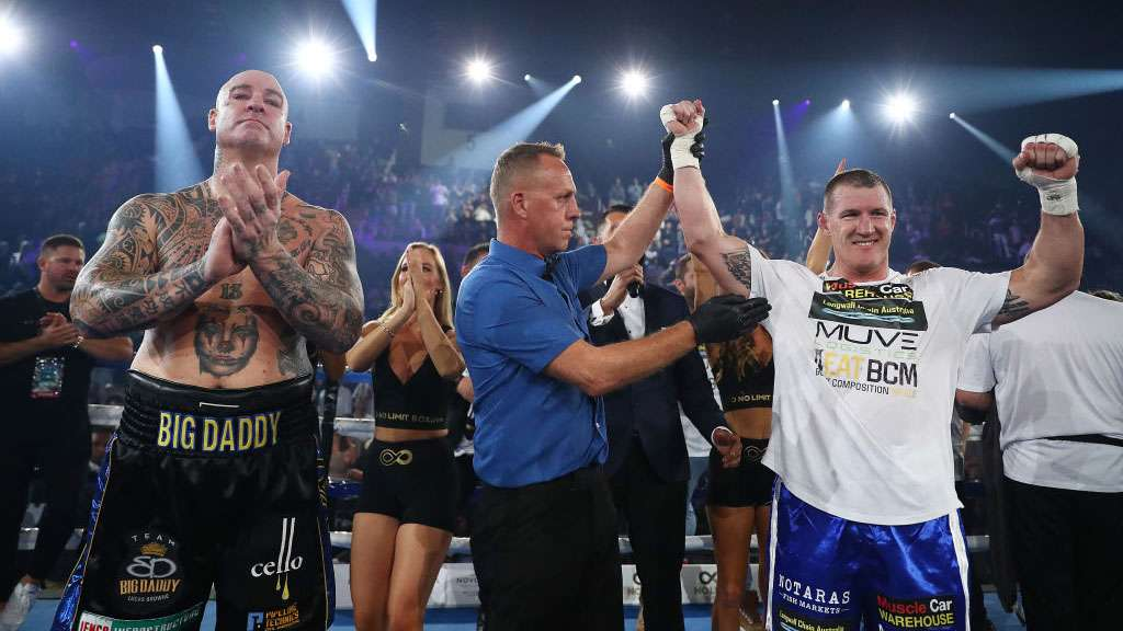 Lucas Browne and Paul Gallen