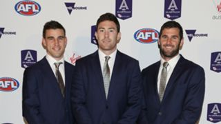Elliot Yeo, Jeremy McGovern and Jack Darling