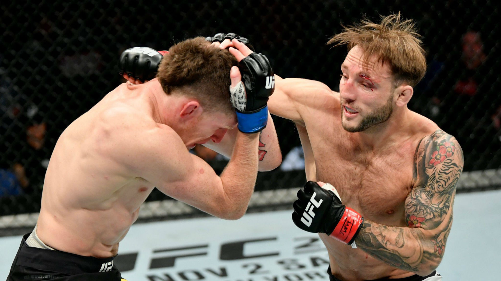 UFC 243: Brad Riddell earns debut win over Jamie Mullarkey in three round  war   Sporting News Australia