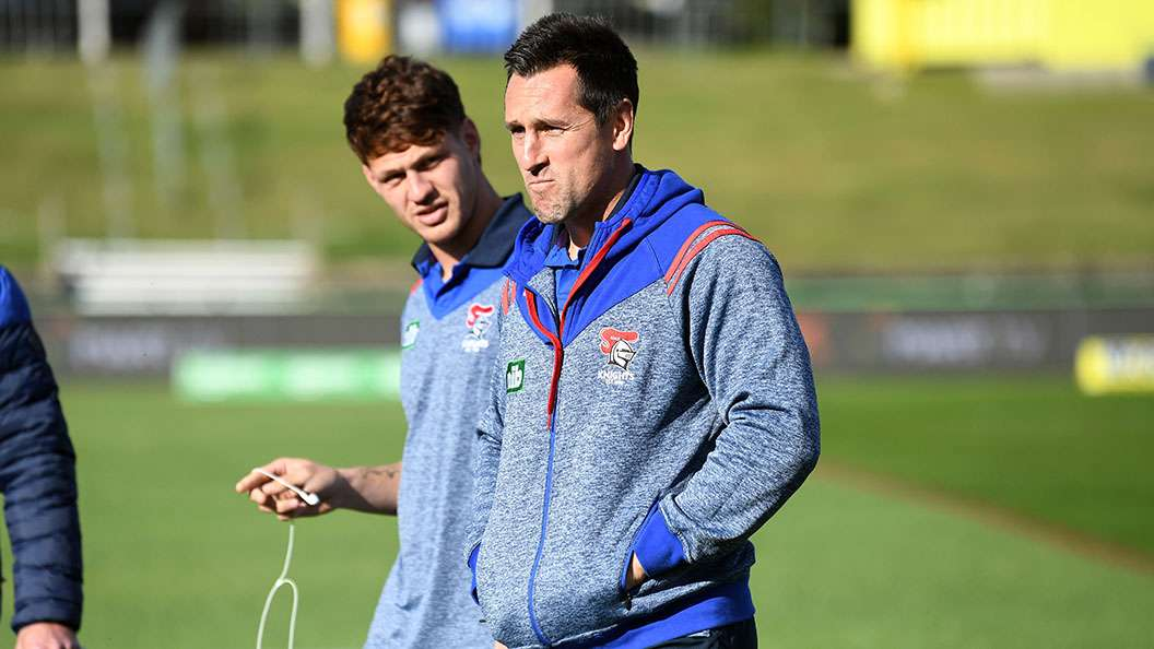 Kalyn Ponga and Mitchell Pearce