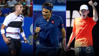 Nick Kyrgios Roger Federer Alex De Minaur