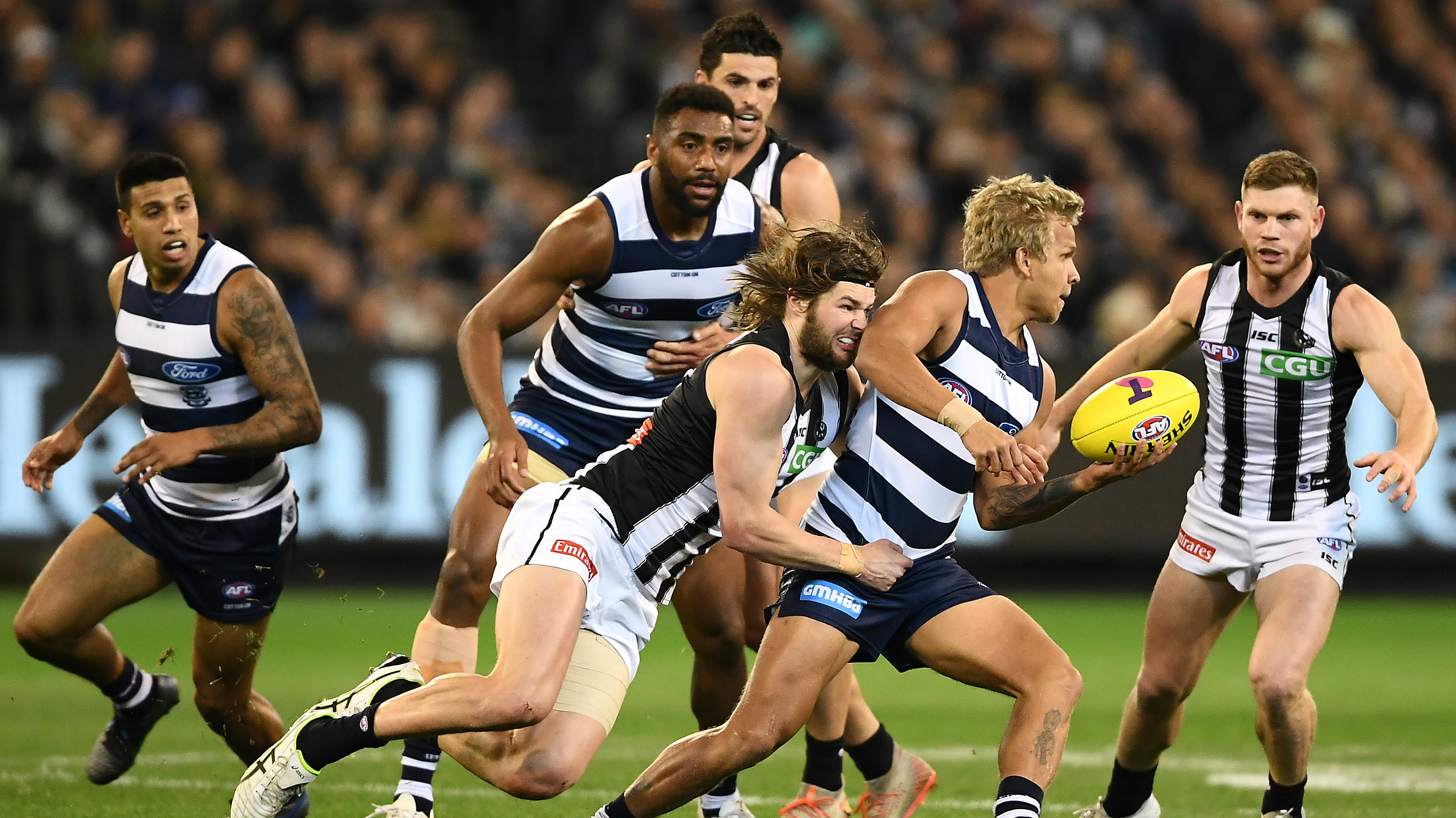Geelong V Collingwood Jumper Clash Leaves Viewers Frustrated Sporting News Australia