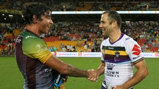 Johnathan Thurston and Cameron Smith