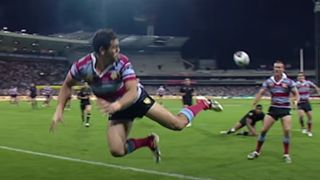 Greg Inglis try assist in the 2008 Centenary Test