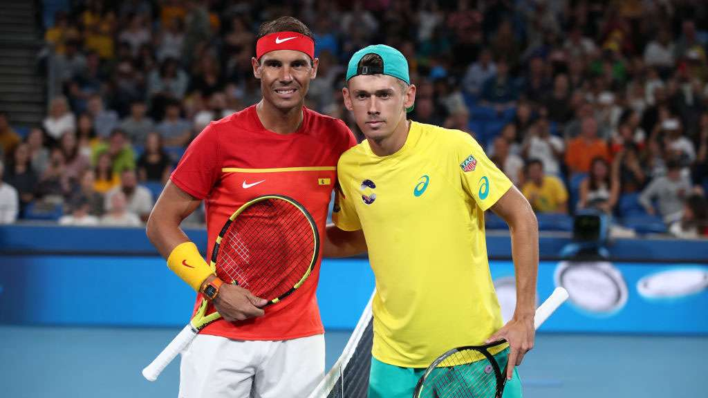 Rafael Nadal and Alex de Minaur