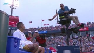Kyrgios chair umpire