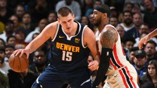 Nikola Jokic Denver Nuggets Carmelo Anthony Portland Trail Blazers