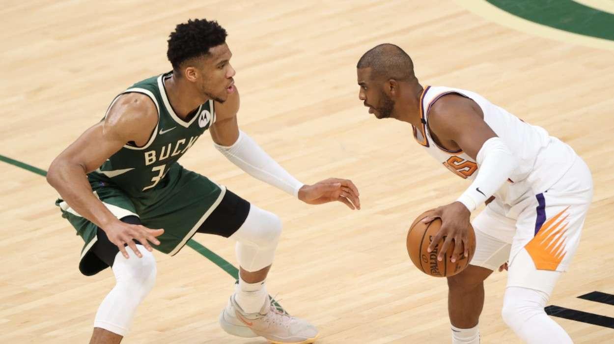 Giannis Antetokounmpo Milwaukee Bucks Chris Paul Phoenix Suns