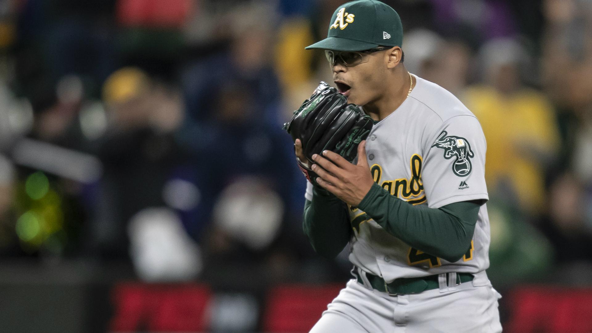 A pitcher Jesus Luzardo breaks his finger in unfortunate video game crash