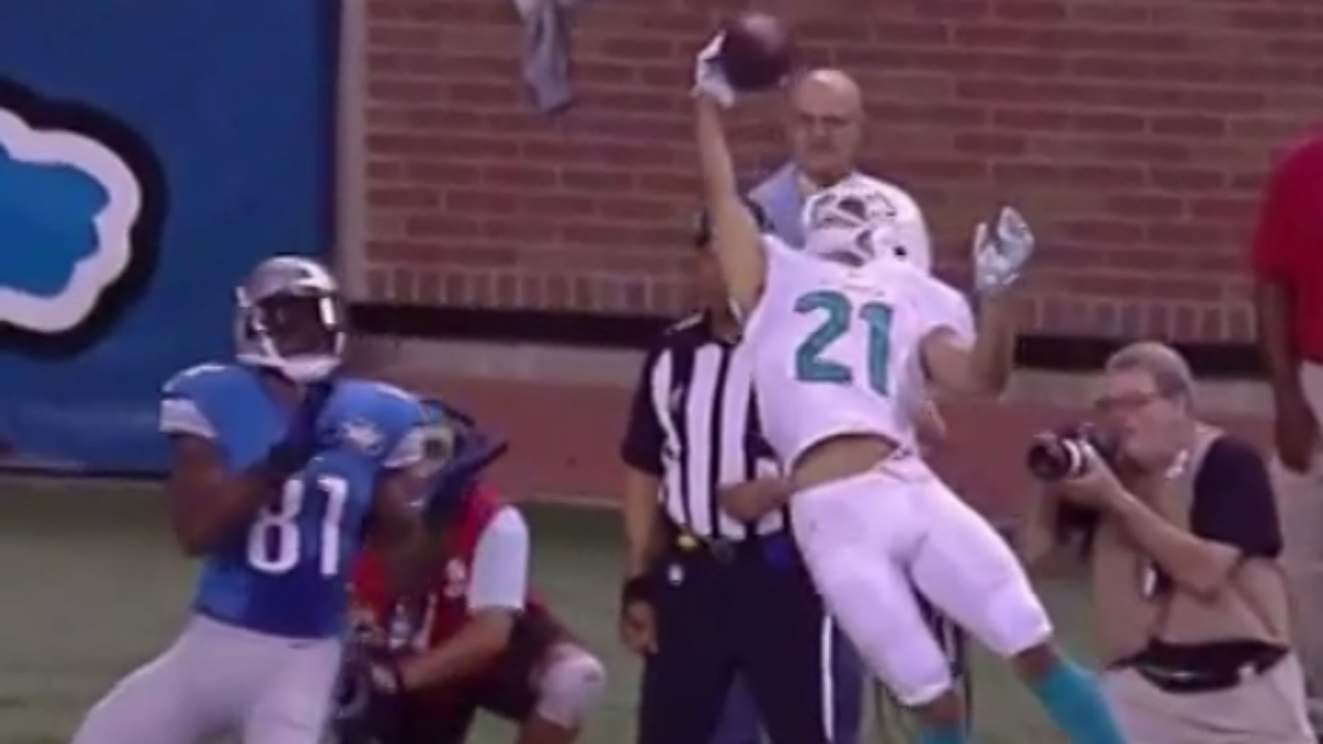 Brent Grimes Thinks His Catch Was Better Than Odell Beckham Jr S Sporting News