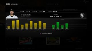 MLB The Show 16 rookie Chris Sale ratings
