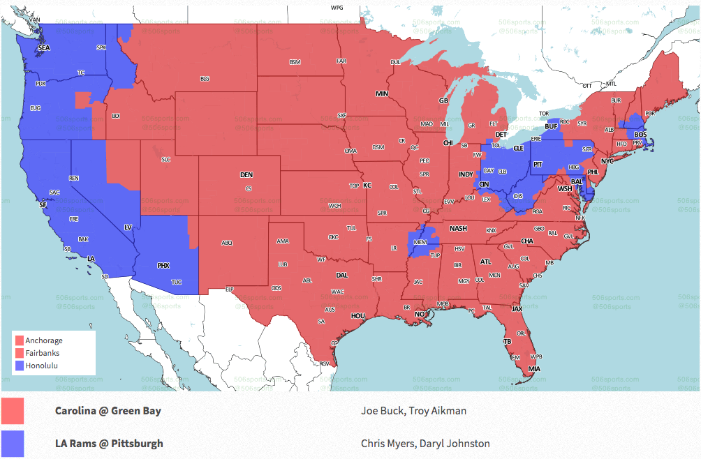 NFL Week 10 coverage map: TV schedule for CBS, Fox regional broadcasts |  Sporting News