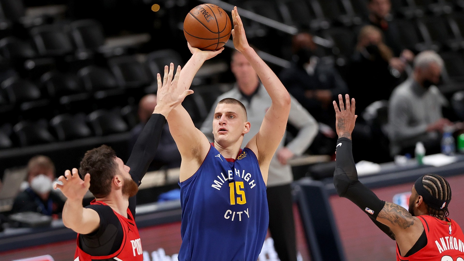 Trail Blazers plan to turn Nuggets' Nikola Jokic into just one goalscorer pays off in Game 1 win