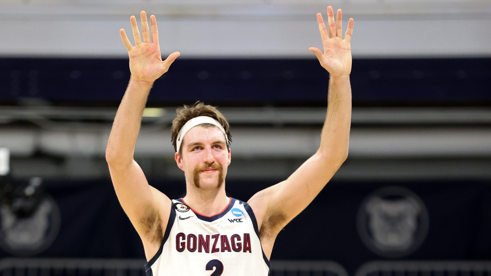 Drew Timme's mustache is the story of March Madness as Gonzaga advances to  Sweet 16 | Sporting News