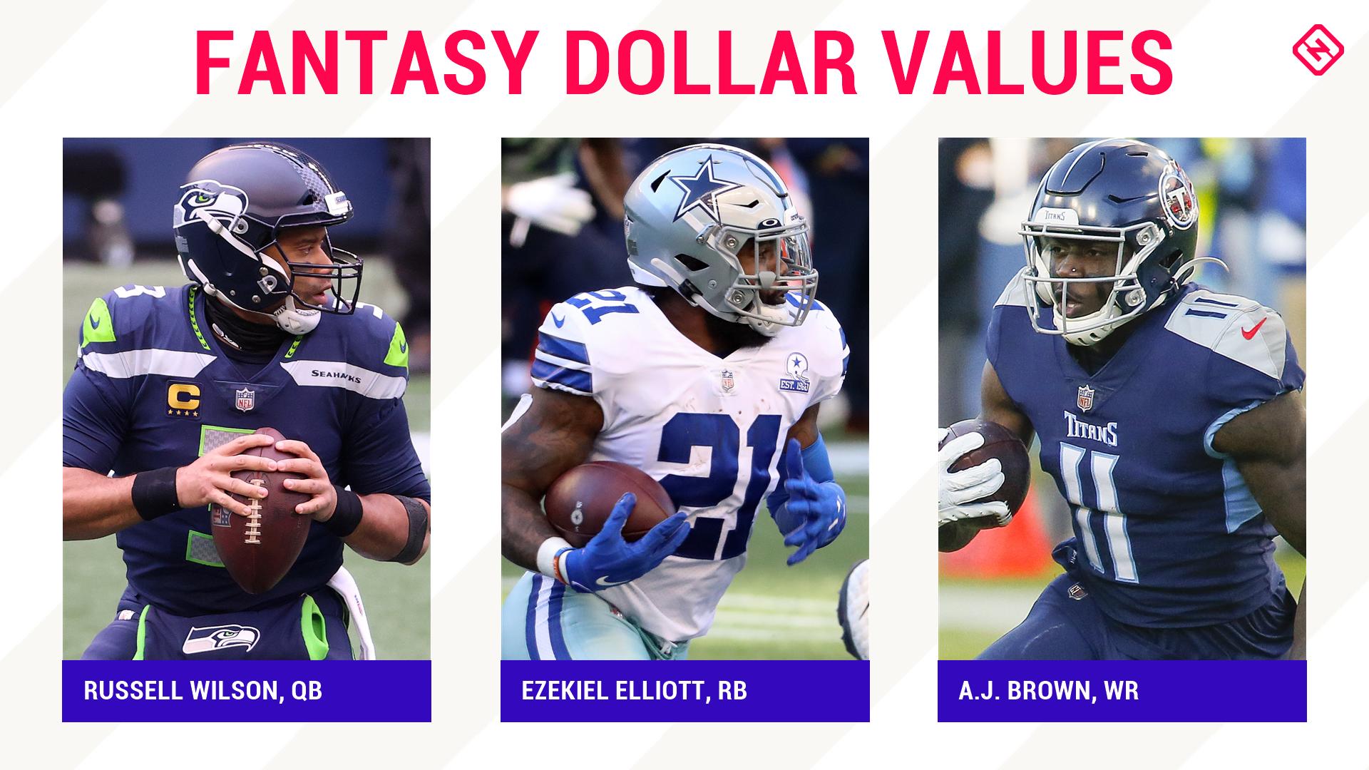 2021 fantasy dollar values