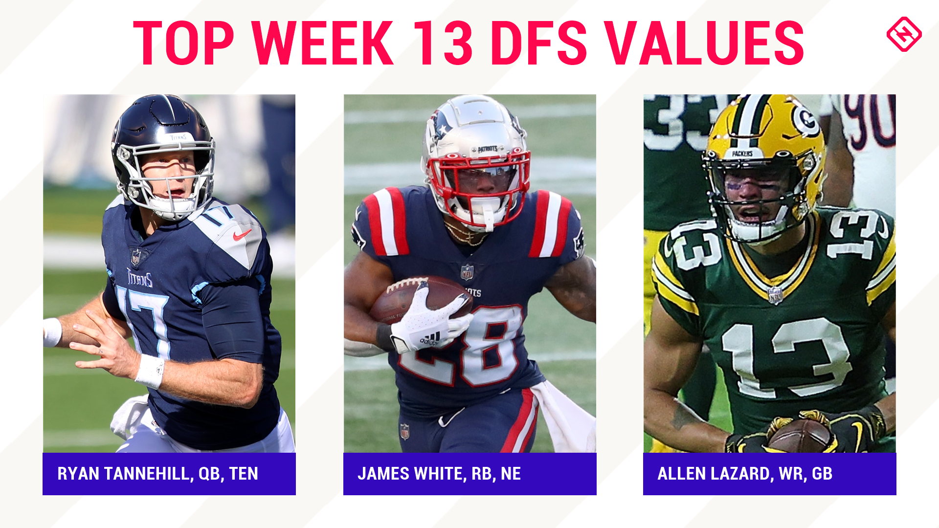 Week 13 NFL DFS Picks: Best value players, sleepers for DraftKings, FanDuel daily fantasy football lineups