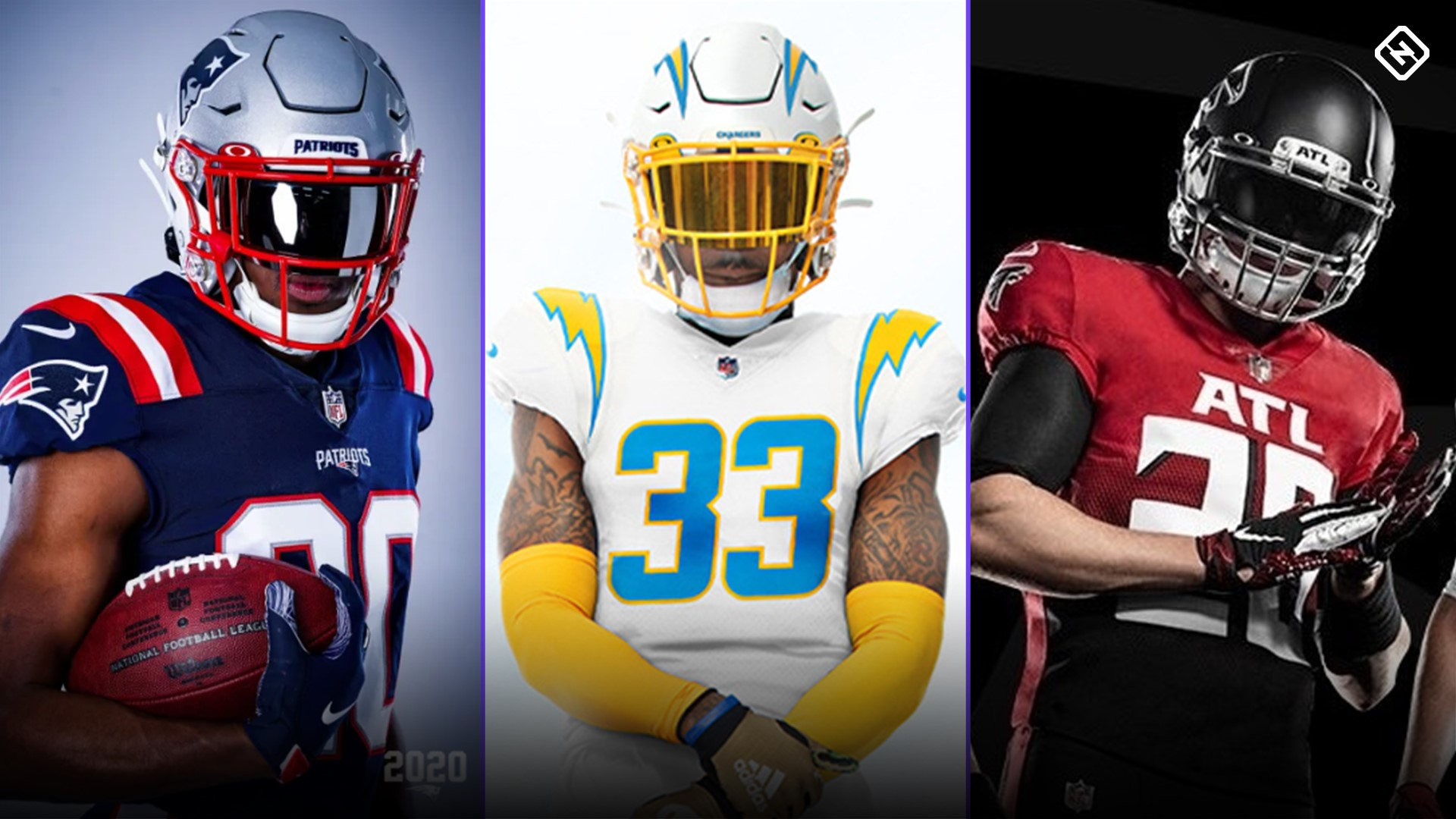 NFL uniform rankings: Patriots, Chargers rise with new looks for 2020; Falcons fall