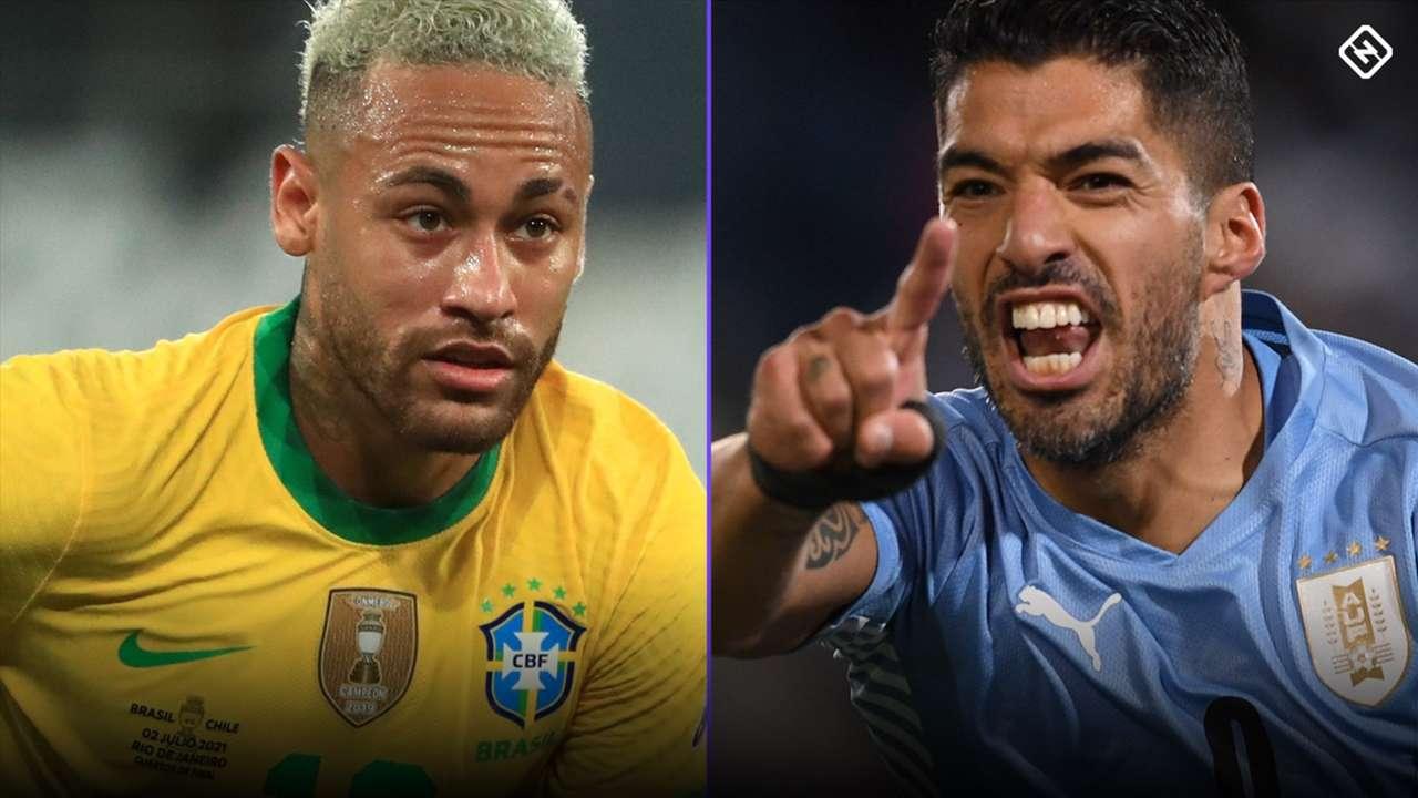 Neymar - Brazil - Luis Suarez - Uruguay