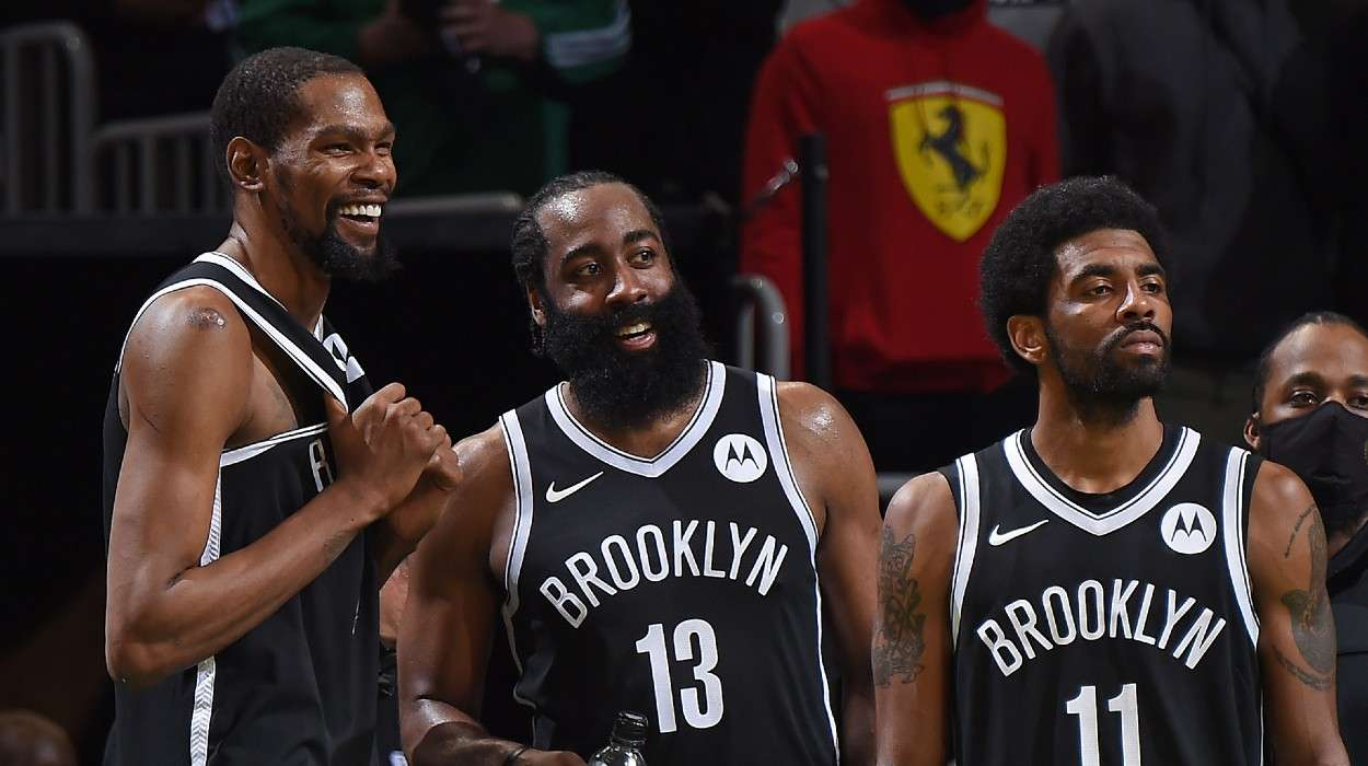 Kevin Durant, James Harden, Kyrie Irving, Brooklyn Nets