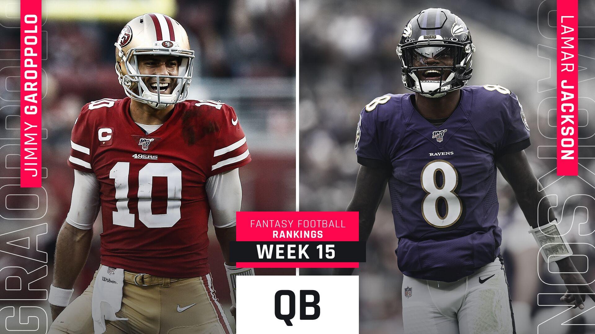 Week 15 Fantasy QB Rankings: Jimmy Garoppolo, Ryan Tannehill on the rise