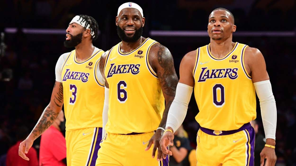 Anthony Davis LeBron James Russell Westbrook Los Angeles Lakers