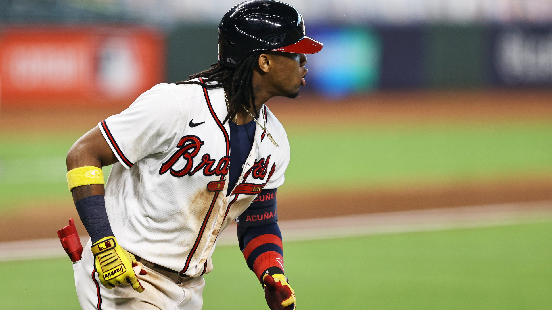 Ronald Acuna Jr.  injury update: The Braves star will be examined after having abdominal tension