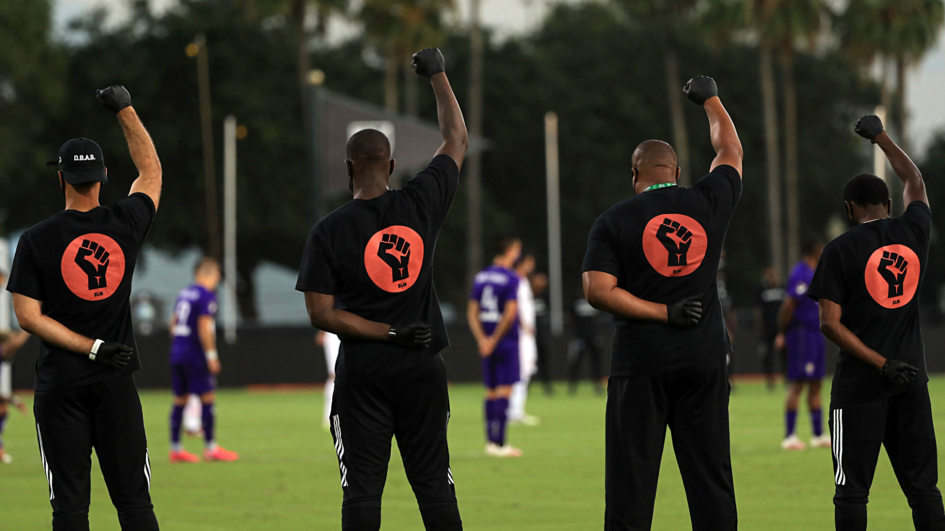 MLS is Back tournament opens with players taking knee, Black Power salutes 1