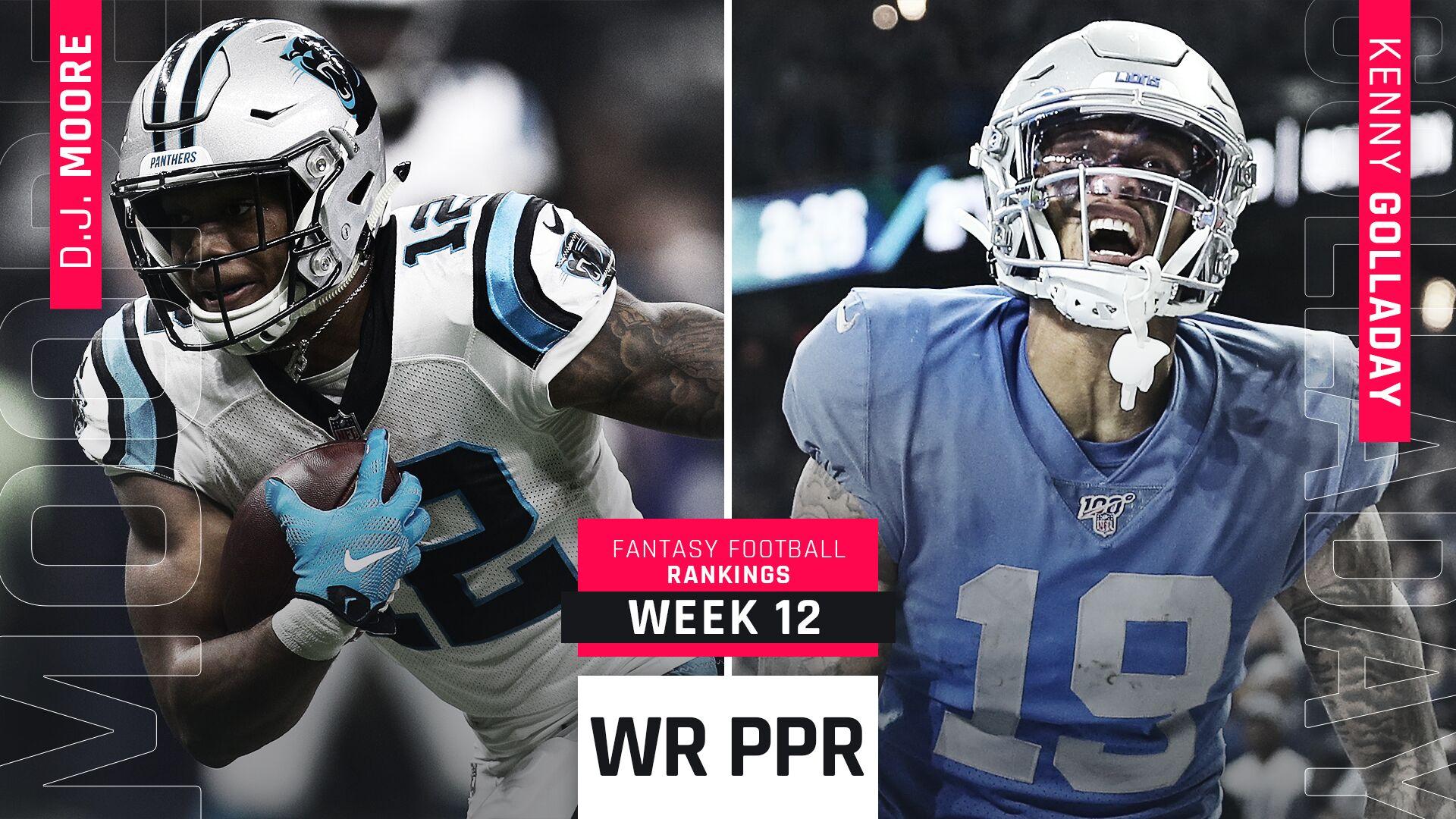 Week 12 PPR Rankings: WR