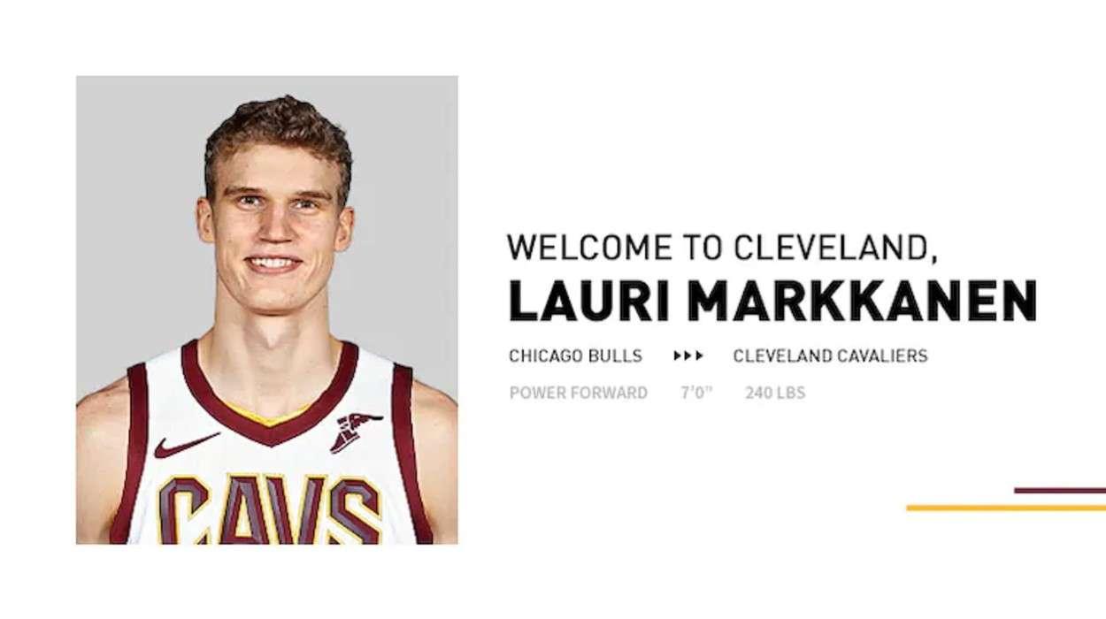 Cleveland Cavaliers Lauri Markkanen