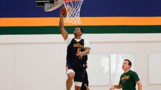 Utah Jazz guard Rayjon Tucker