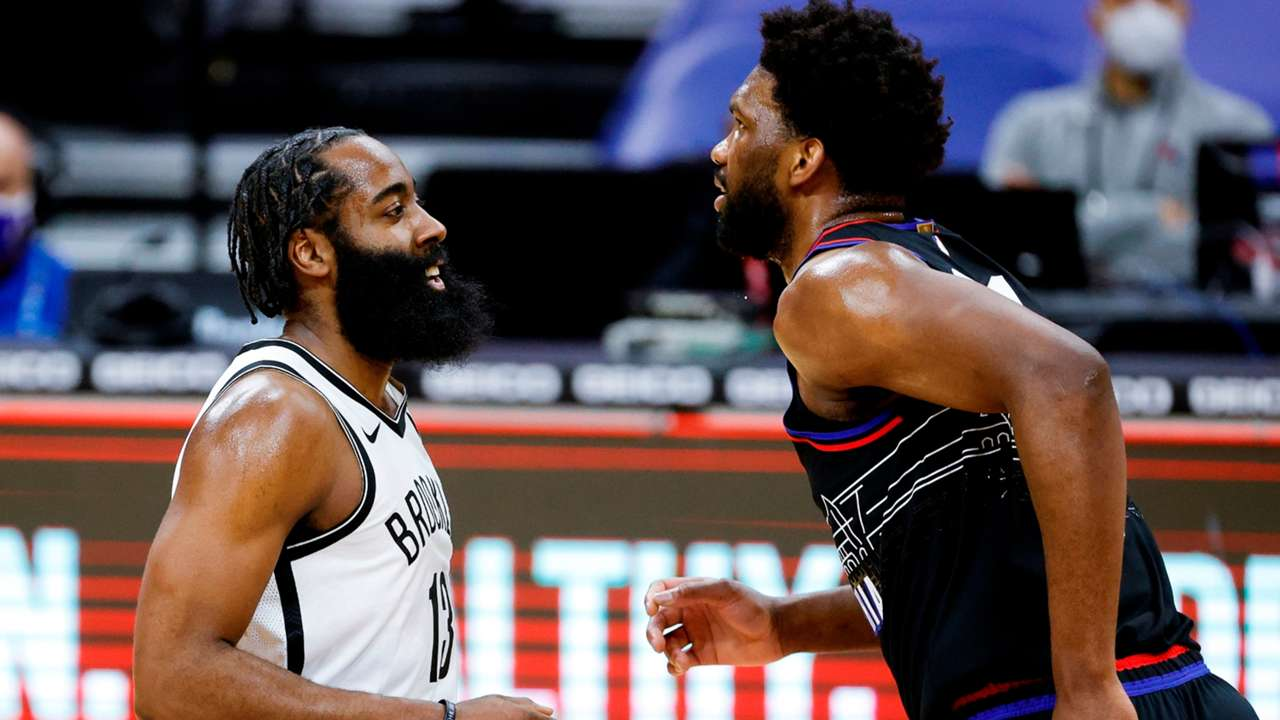 James Harden and Joel Embiid
