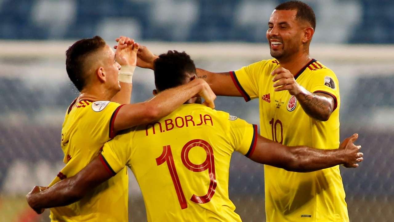 Colombia celebrate - 2021 Copa America