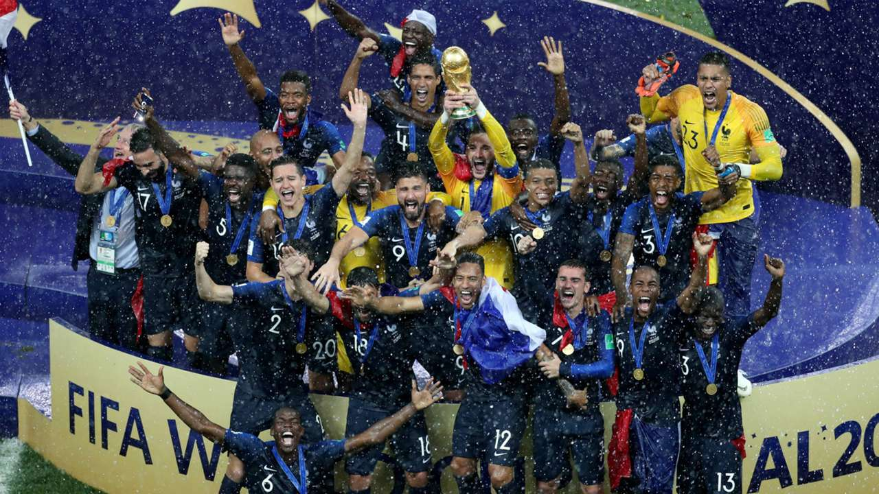 World Cup final france trophy FTR