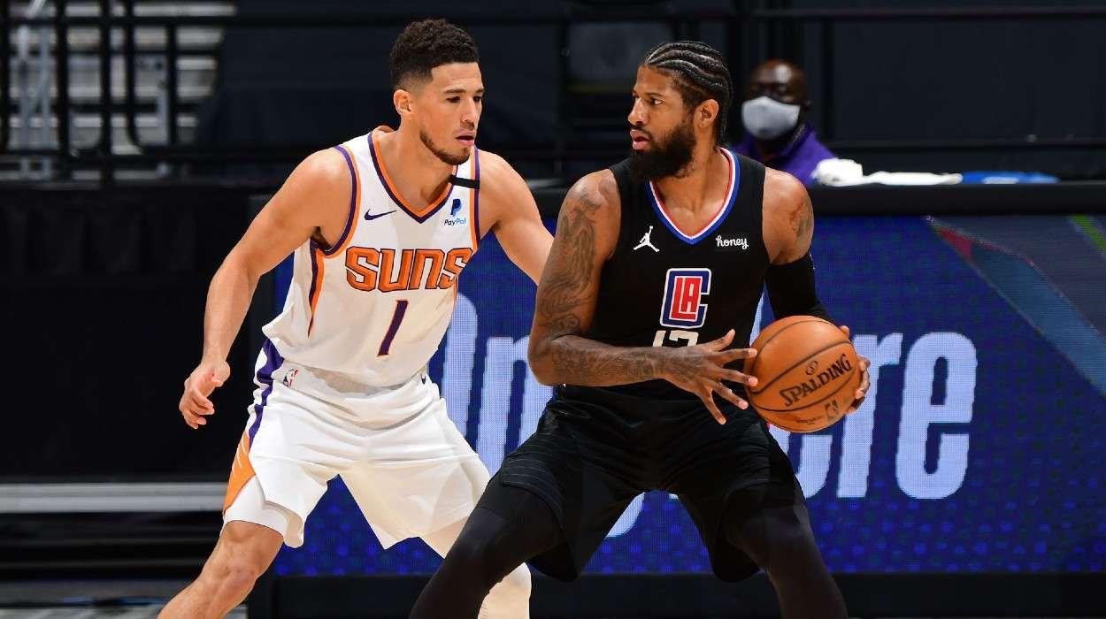 devin booker  Phoenix Suns Paul George LA Clippers