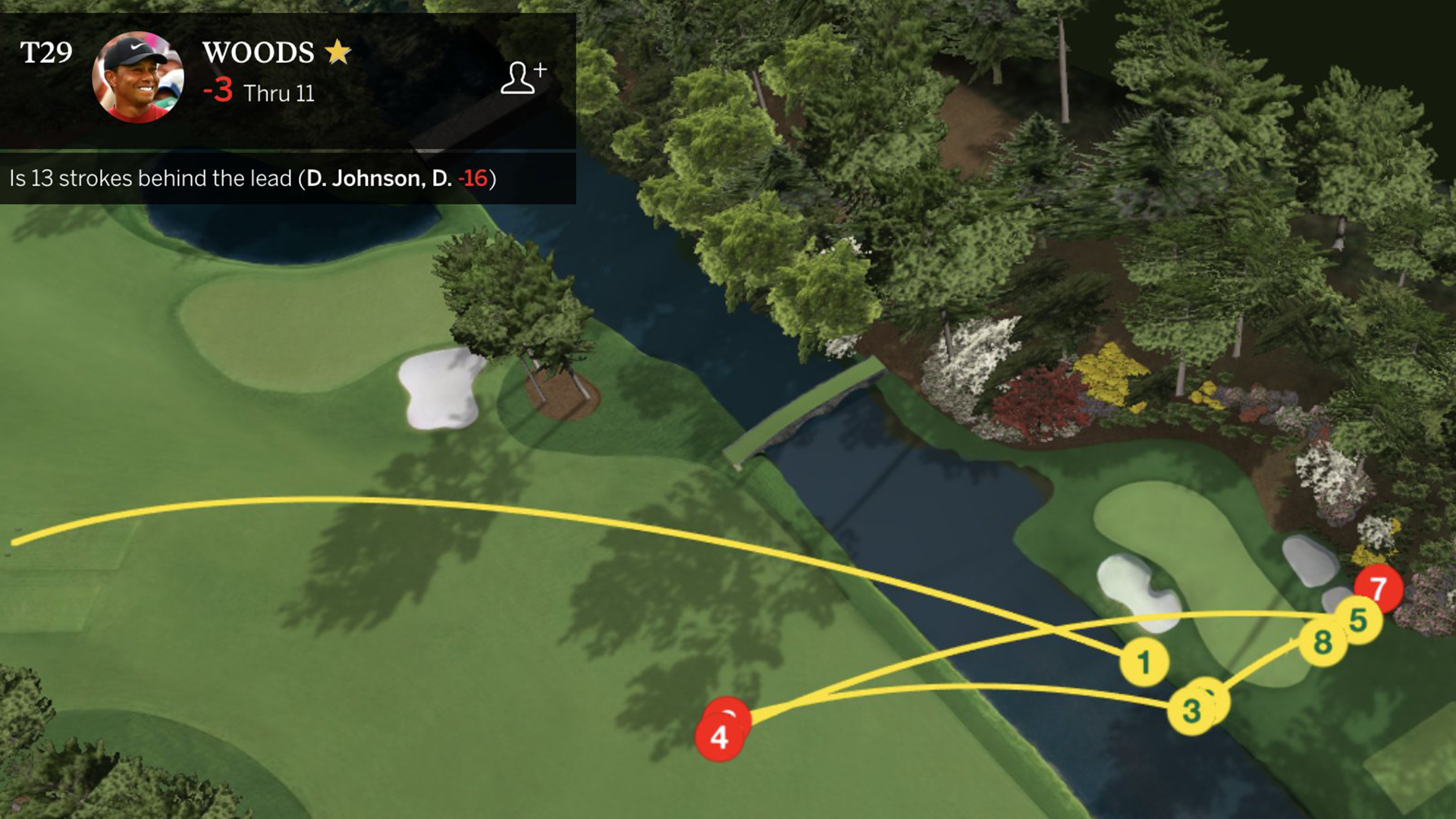 Tiger Woods implodes with 10 on a par 3 at the Masters, the first of his  PGA Tour career