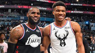 NBA All-Star 2019 LeBron James Giannis Antetokounmpo