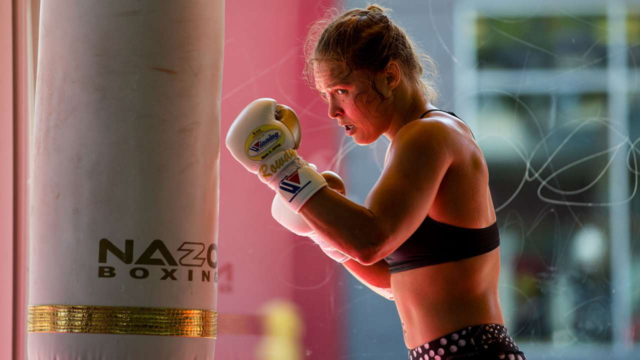 Ronda Rousey's training routine, as captured on camera