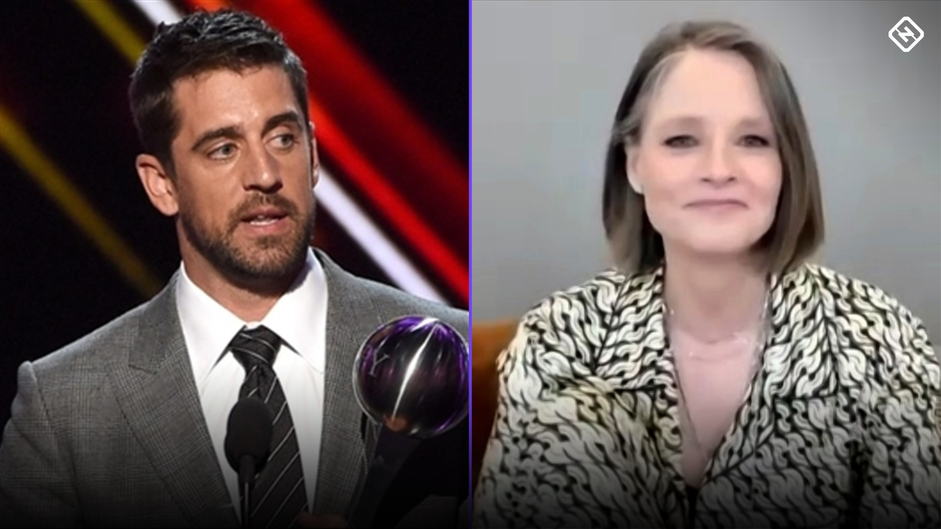 Jodie Foster reciprocates, mentions Aaron Rodgers in Golden Globes acceptance speech