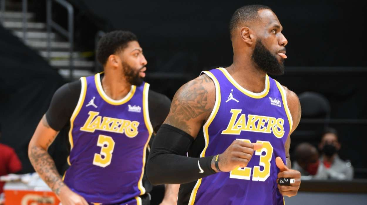 LeBron James Anthony Davis Los Angeles Lakers