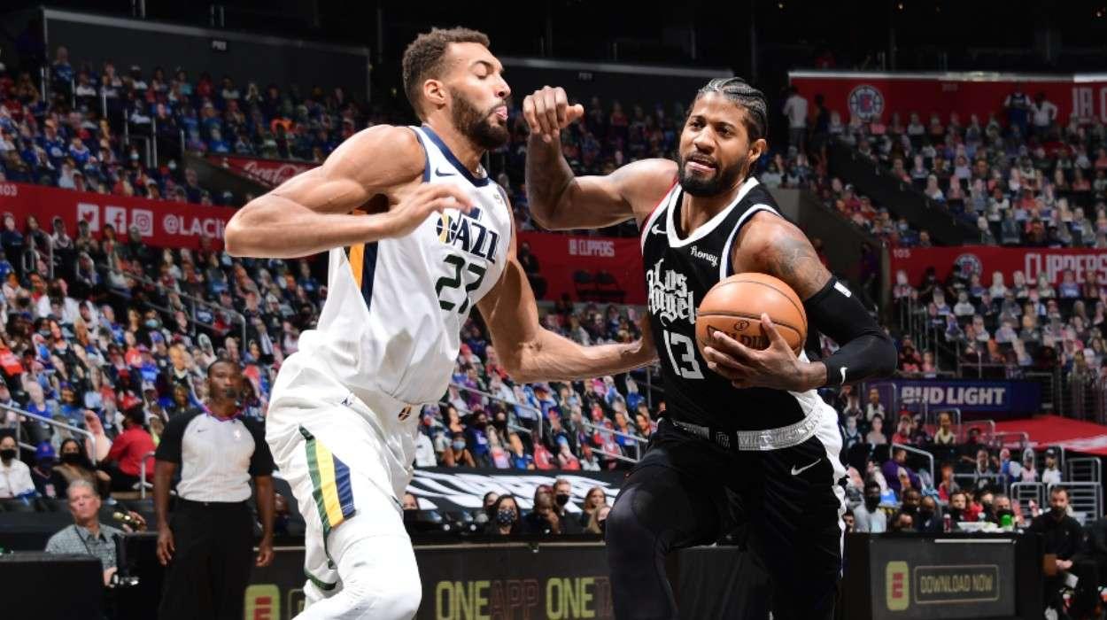 Rudy Gobert Utah Jazz Paul George LA Clippers