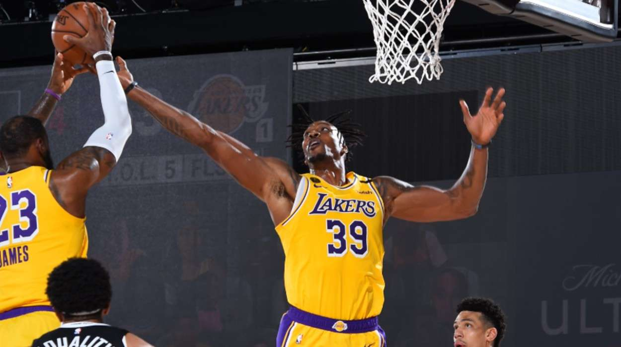LeBron James Dwight Howard Los Angeles Lakers