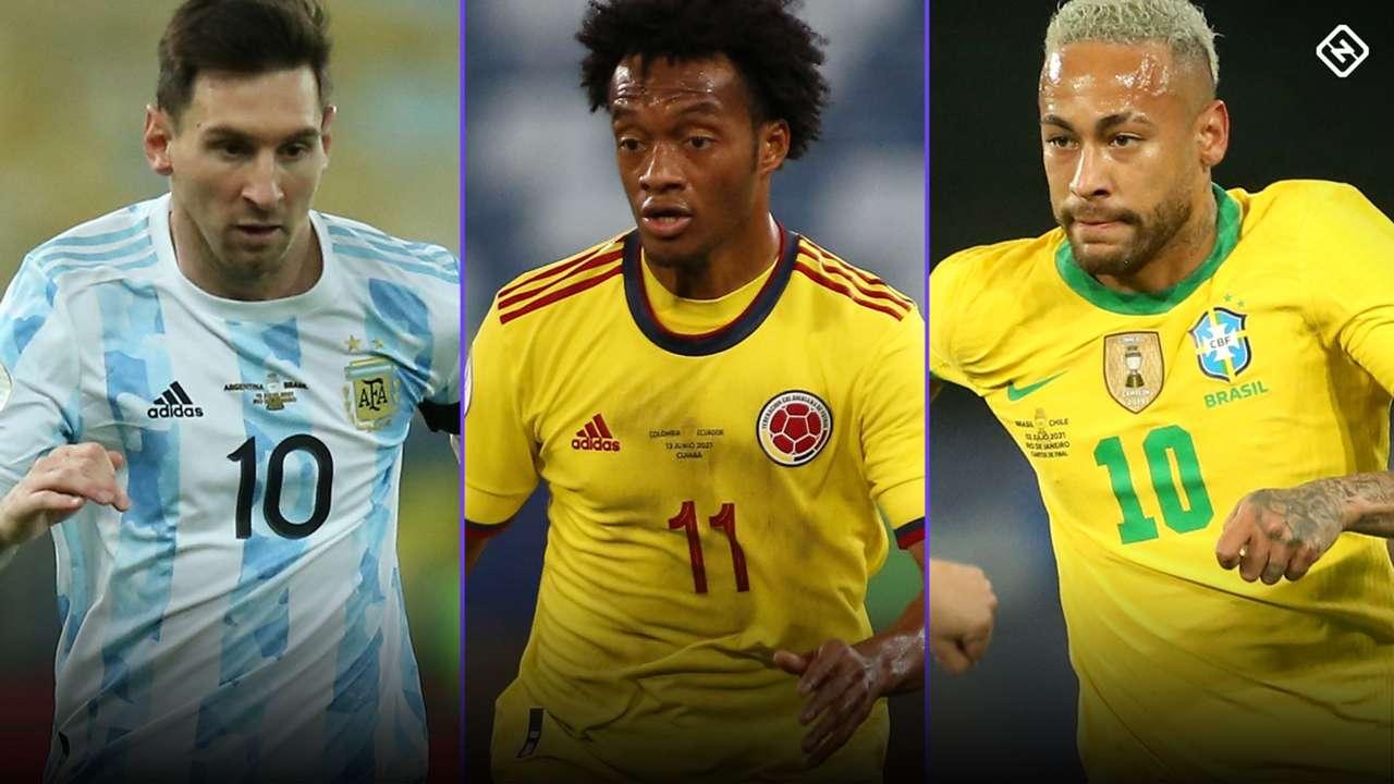 Messi - Cuadrado - Neymar - CONMEBOL qualifying
