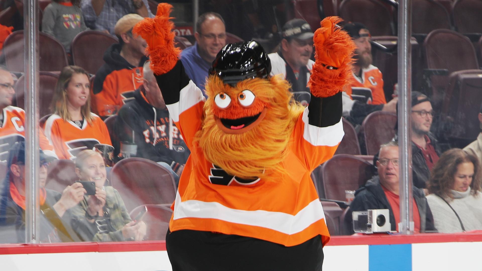 Los mejores momentos de Gritty mientras los jugadores de NHL votan a la mascota de Flyers como la mejor 31