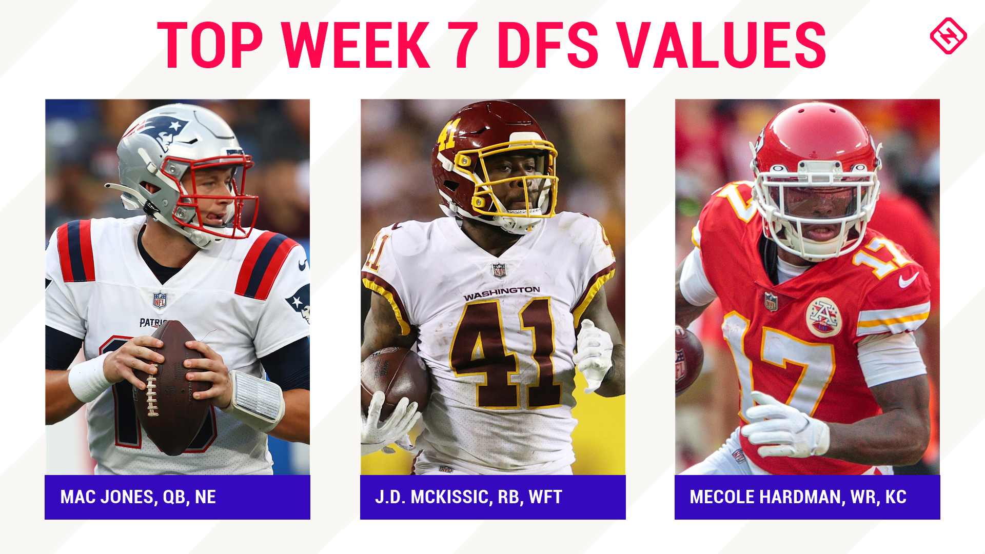 NFL DFS Picks Week 7: Best sleepers, value players for DraftKings, FanDuel daily fantasy football lineups