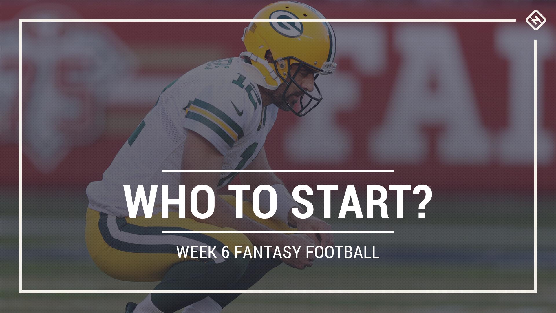 Who to start in fantasy football: Week 6 rankings, start-sit advice for PPR, standard, superflex scoring