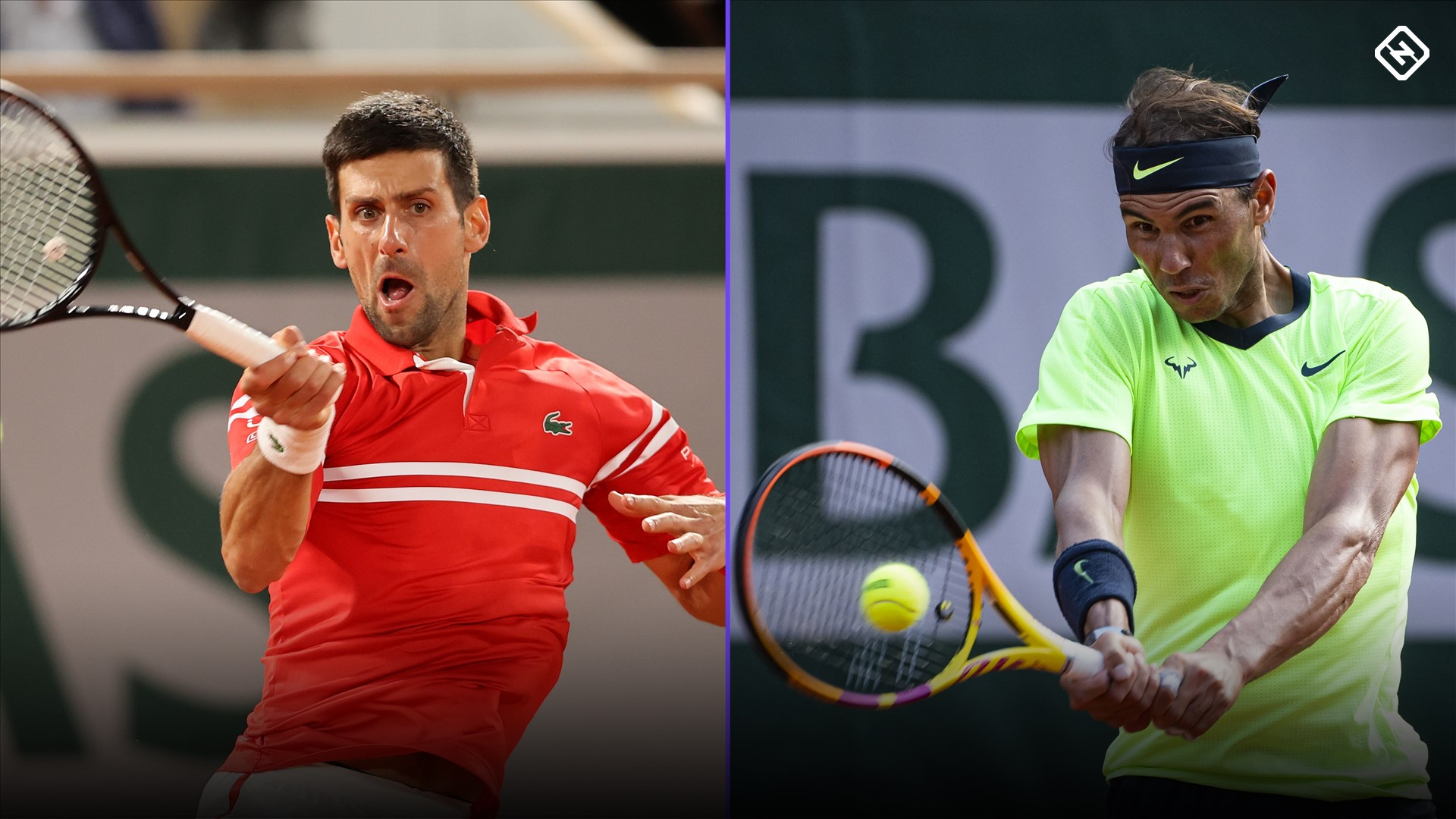 What channel is Novak Djokovic vs. Rafael Nadal from?  Television coverage, live broadcast of the French Open semi-finals