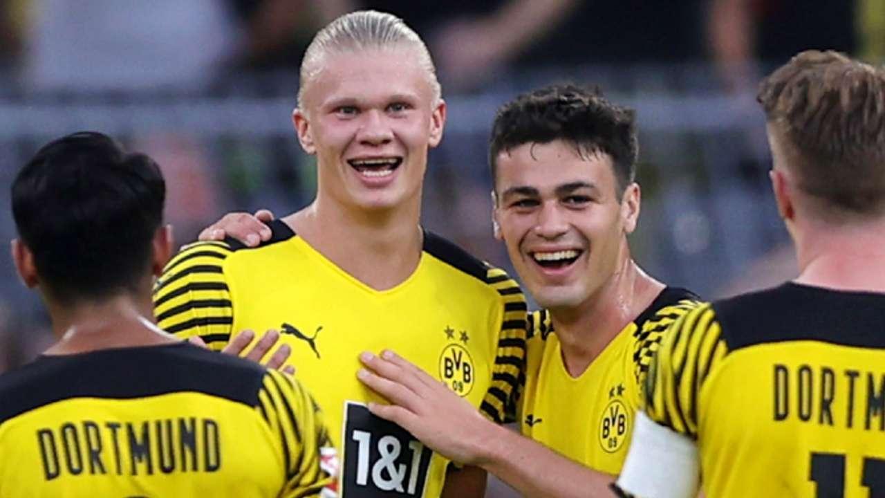 Erling Haaland - Gio Reyna - Borussia Dortmund - August 14, 2021