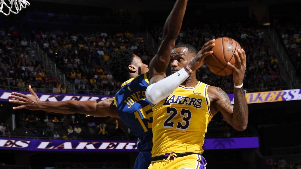 LeBron James Lakers vs Warriors