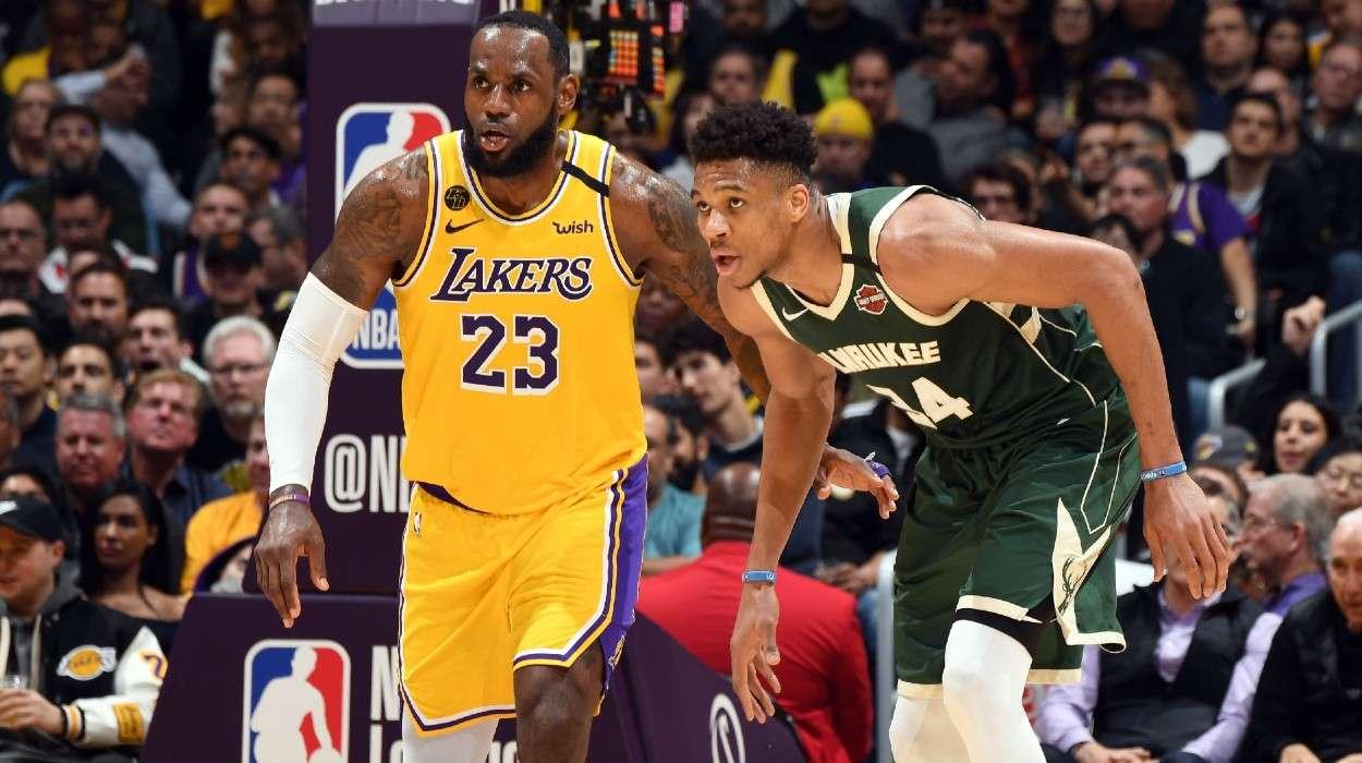Giannis Antetokounmpo Milwaukee Bucks LeBron James Los Angeles Lakers